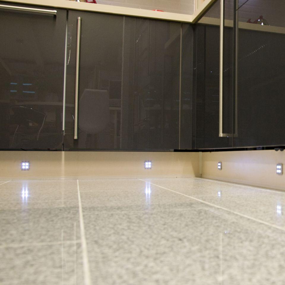 fyra square led plinth light pack. Black Bedroom Furniture Sets. Home Design Ideas