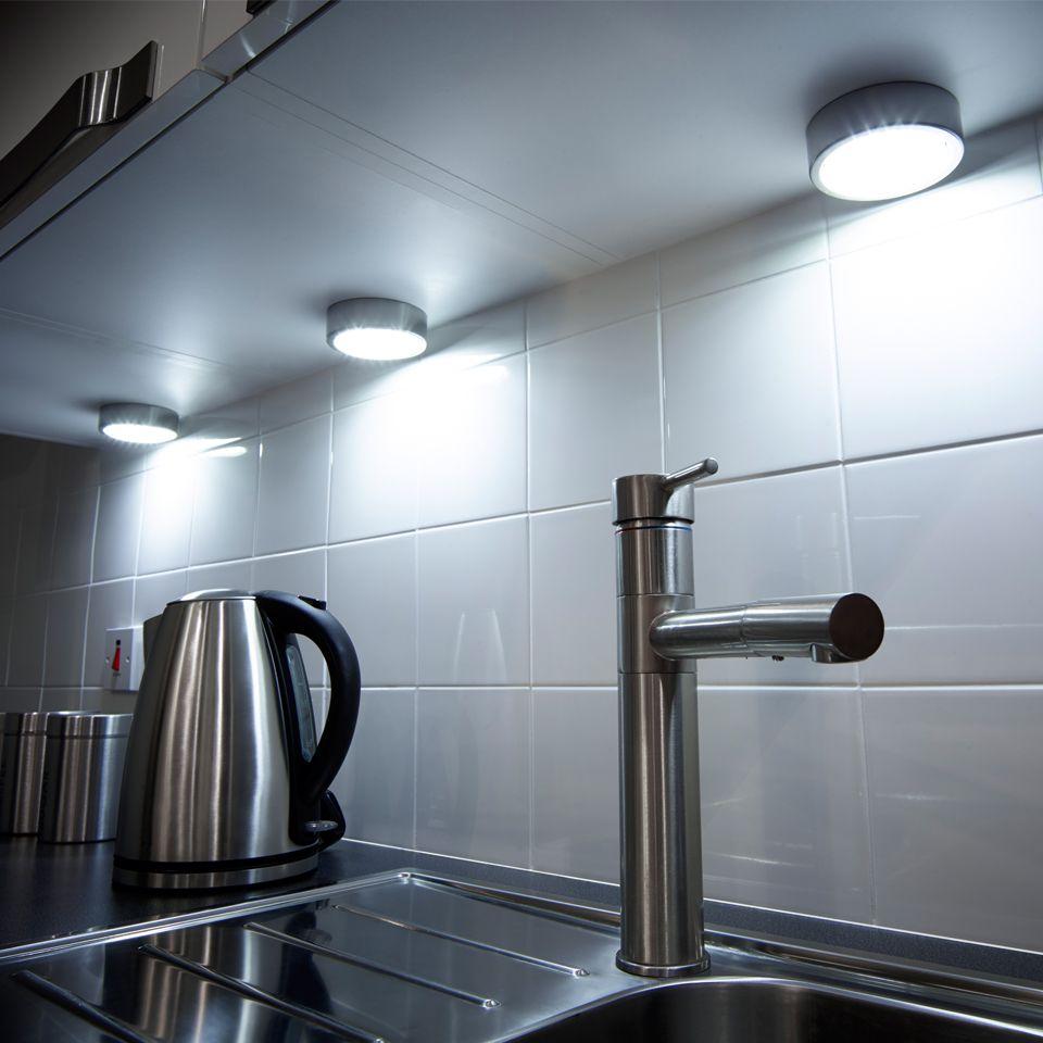 GX53 Recess Surface Mains Under Cabinet Light