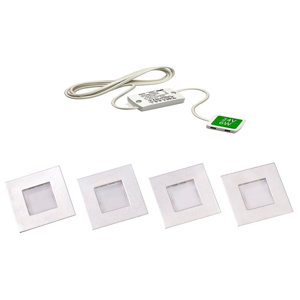 Luce LED Square Plinth Light Packs - Kitchen plinth lights square