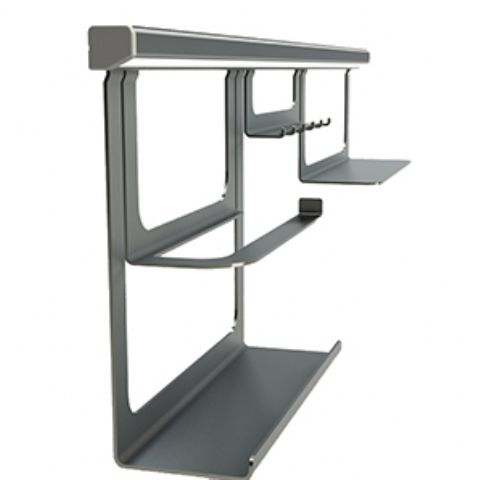 1m Midway Aluminium Hanging Rail Profile - Silver