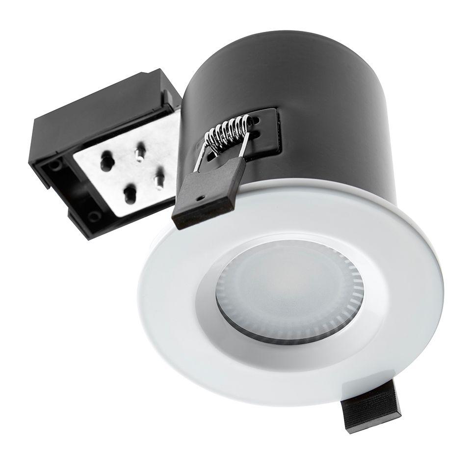 Bathroom Ceiling Lights Gu10 : Gu ip fire rated shower light white