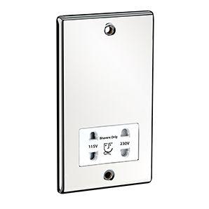 Dual Voltage Shaver Socket (White)