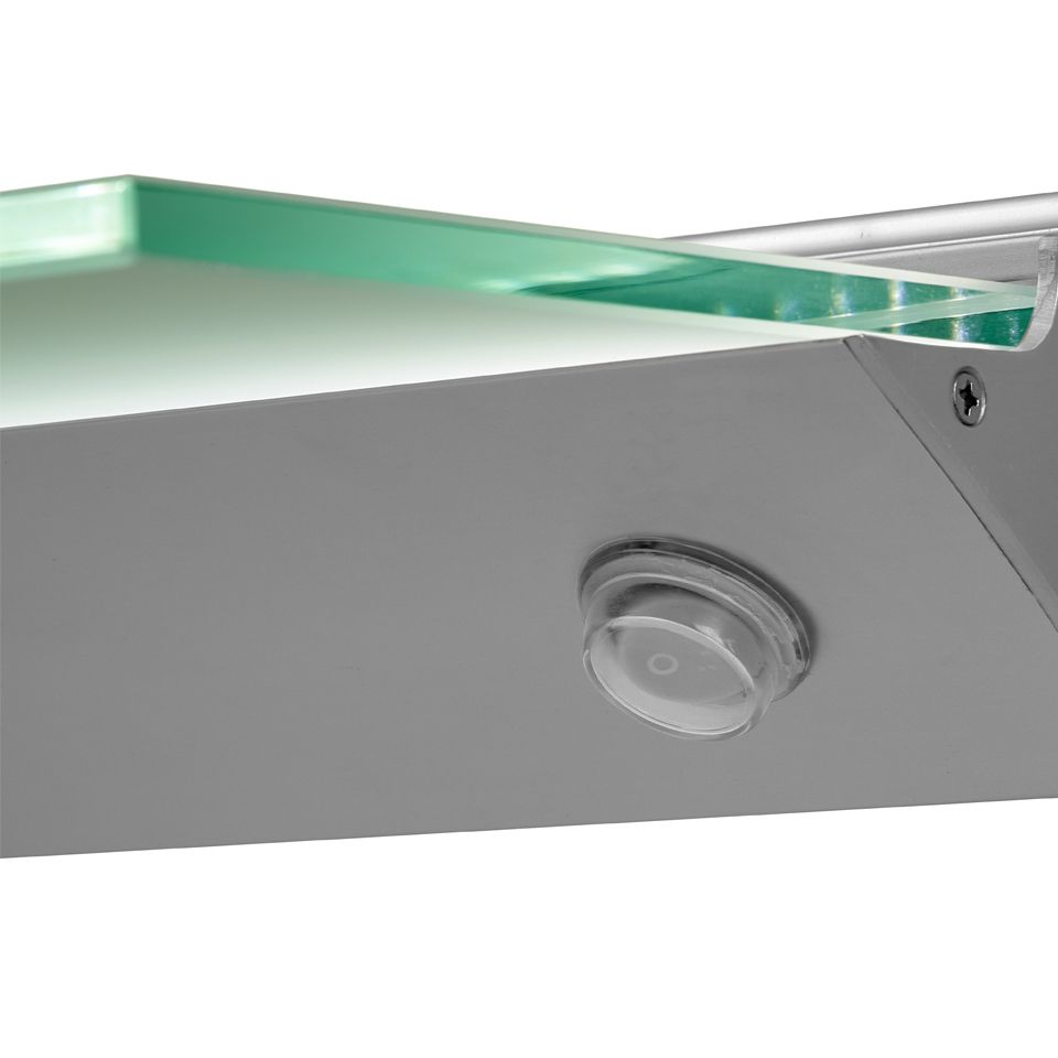 Prime Florence Ip44 Led Glass Shelf Light Download Free Architecture Designs Embacsunscenecom