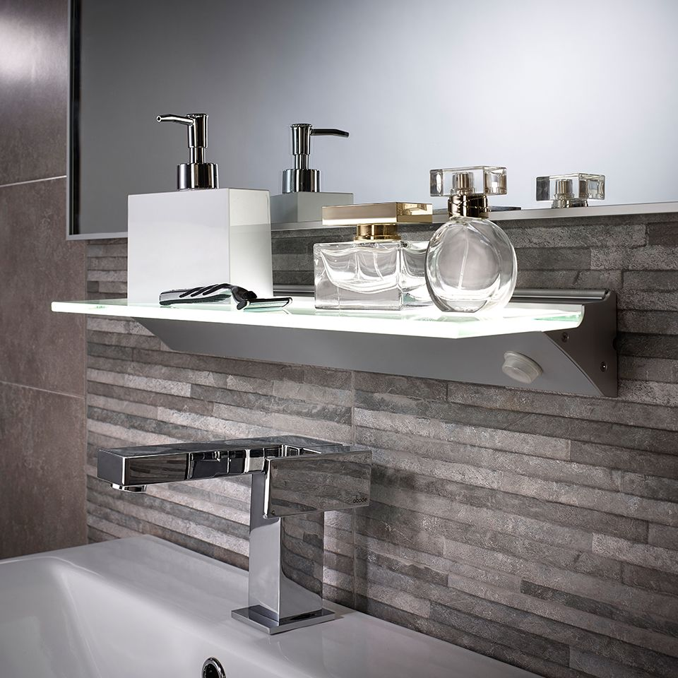 Pleasing Florence Ip44 Led Glass Shelf Light Download Free Architecture Designs Scobabritishbridgeorg