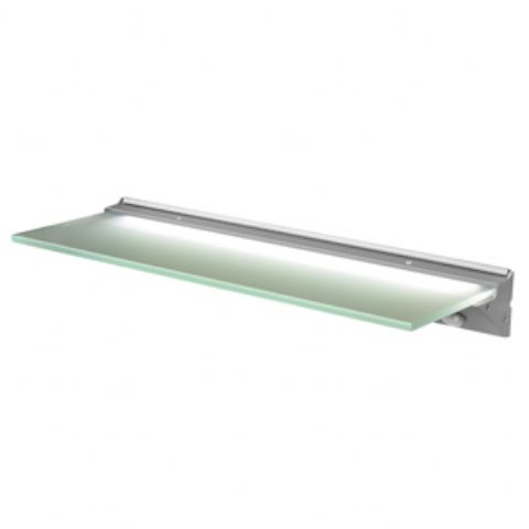 Florence IP44 LED Glass Shelf Light 500mm x 135mm