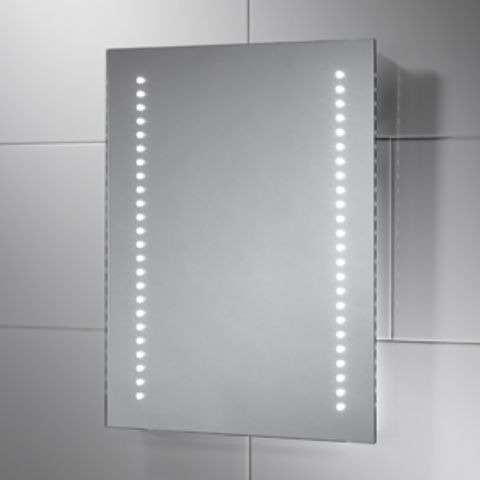 Isla Battery Powered LED Mirror (W)390mm x (H)500mm x (D)30mm