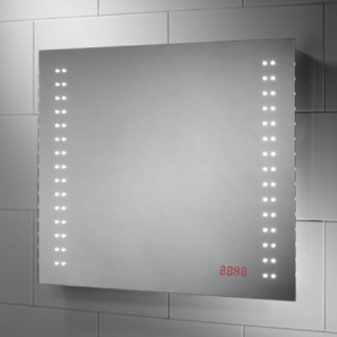 Crono-LED Mirror with Integrated Digital Clock