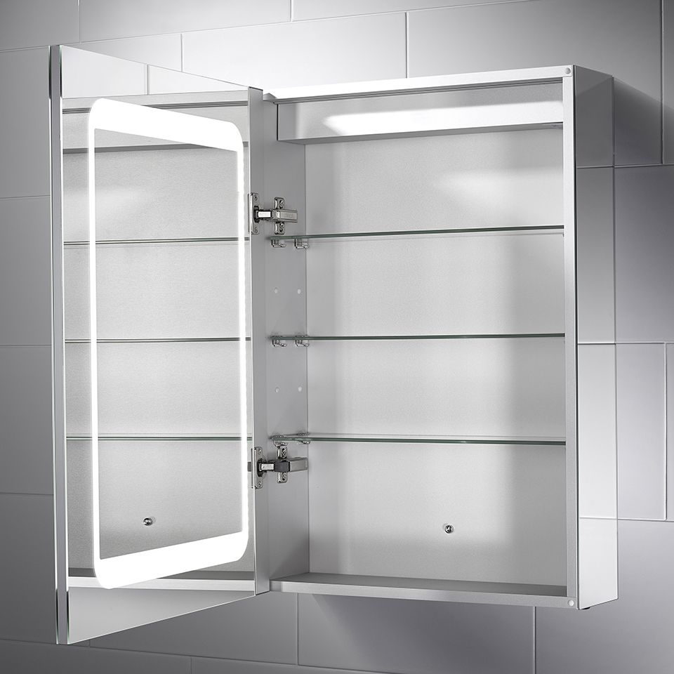 Belle Dual-Lit LED Mirror Cabinet