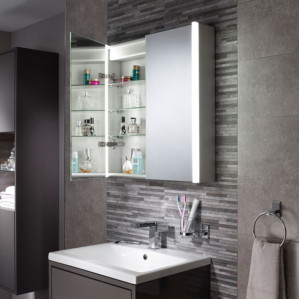 Aspen Diffused Double LED Mirror Cabinet