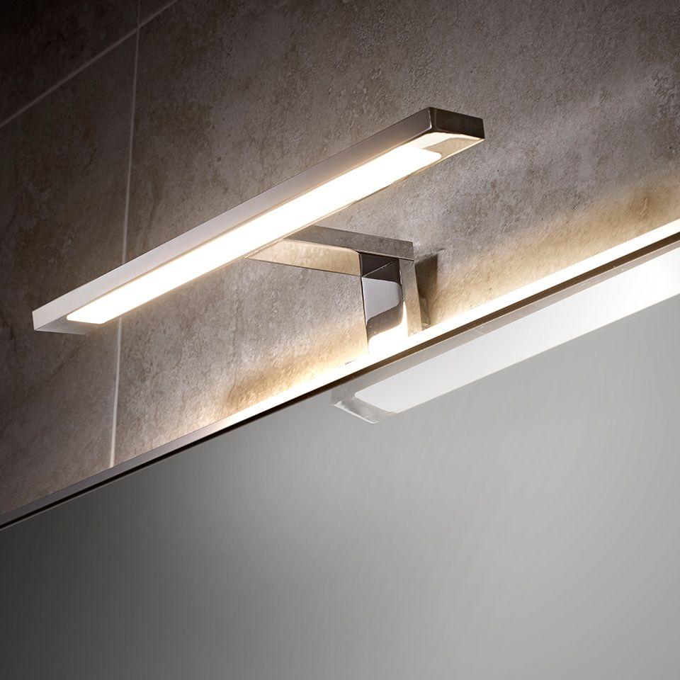 Neptune cob led over mirror t bar light for Best bathroom mirror lighting
