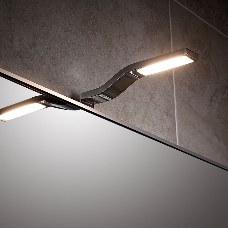 Wave cob over mirror light for Over mirror bathroom lights
