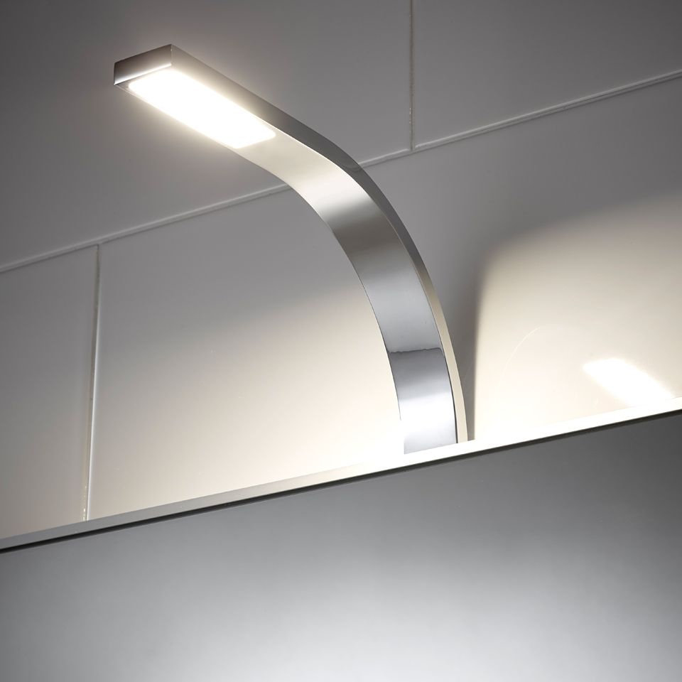 Hydra cob over mirror light for Over mirror bathroom lights