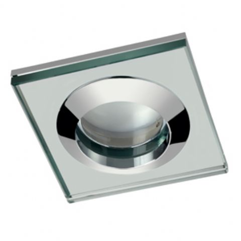 Fawn Square Glass Shower Light (Fitting Only)