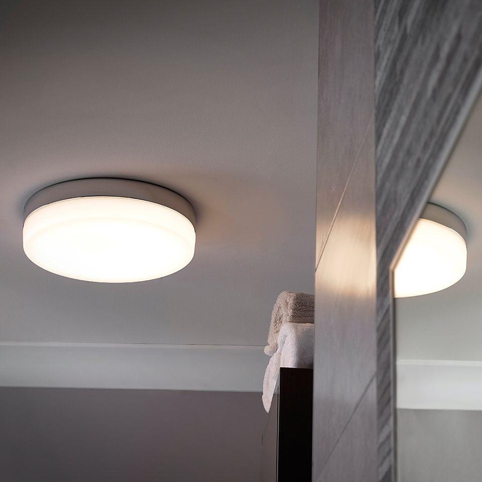 Led Bulb For Bathroom: Hudson Flat Round LED Ceiling Light