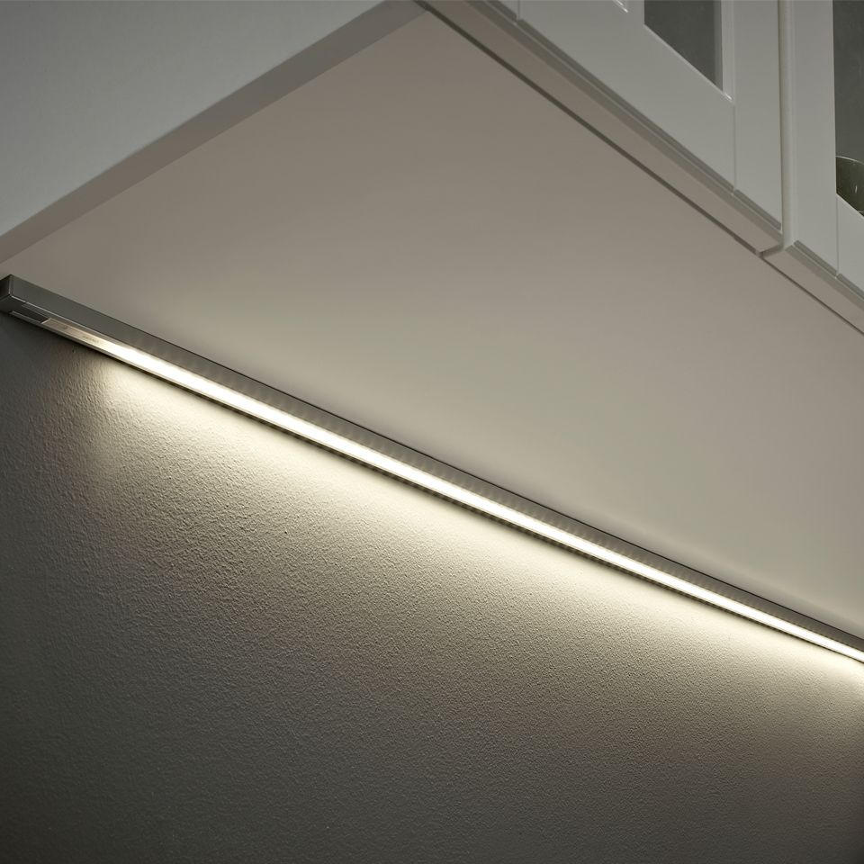 Kitchen Lighting Pelmet: Topaz Recess Surface Under Cabinet Profile With Touch Switch