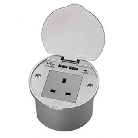 SensioPower R Recessed Power Socket & USB